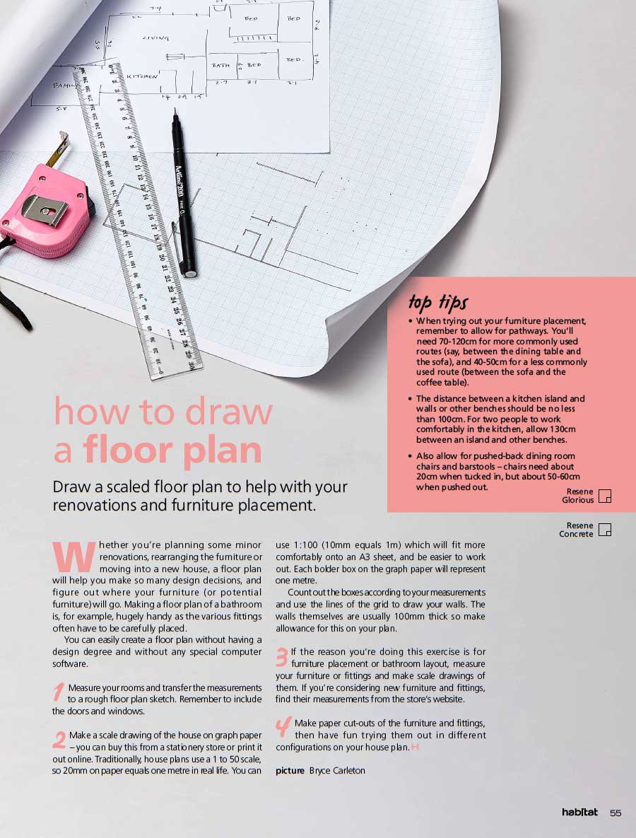 Habitat Magazine 24 How To Draw A Floor Plan