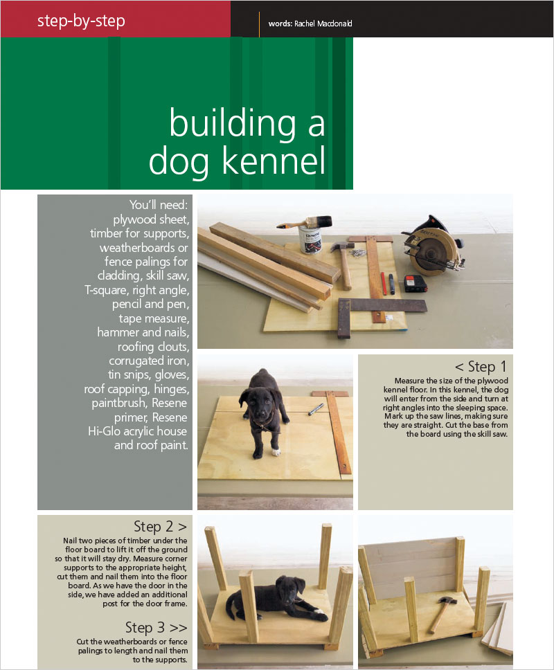 Building A Dog Kennel Habitat Magazine Published By