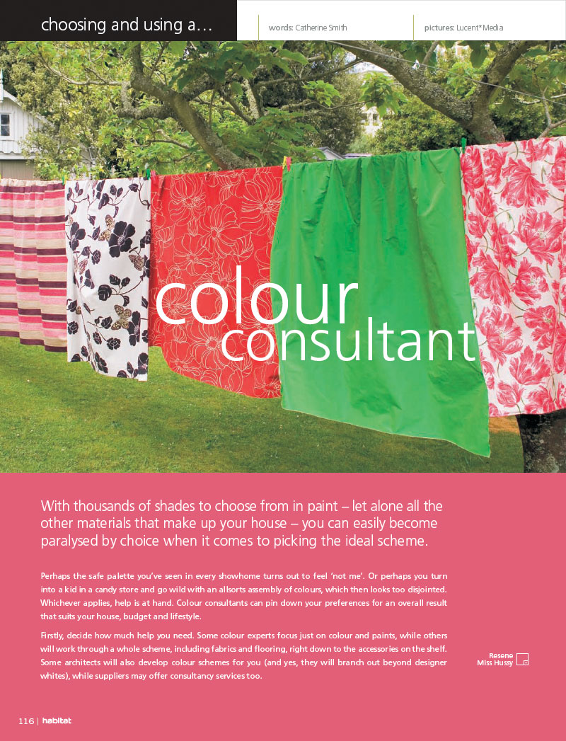 Choosing a colour consultant - Habitat Magazine published by Resene ...