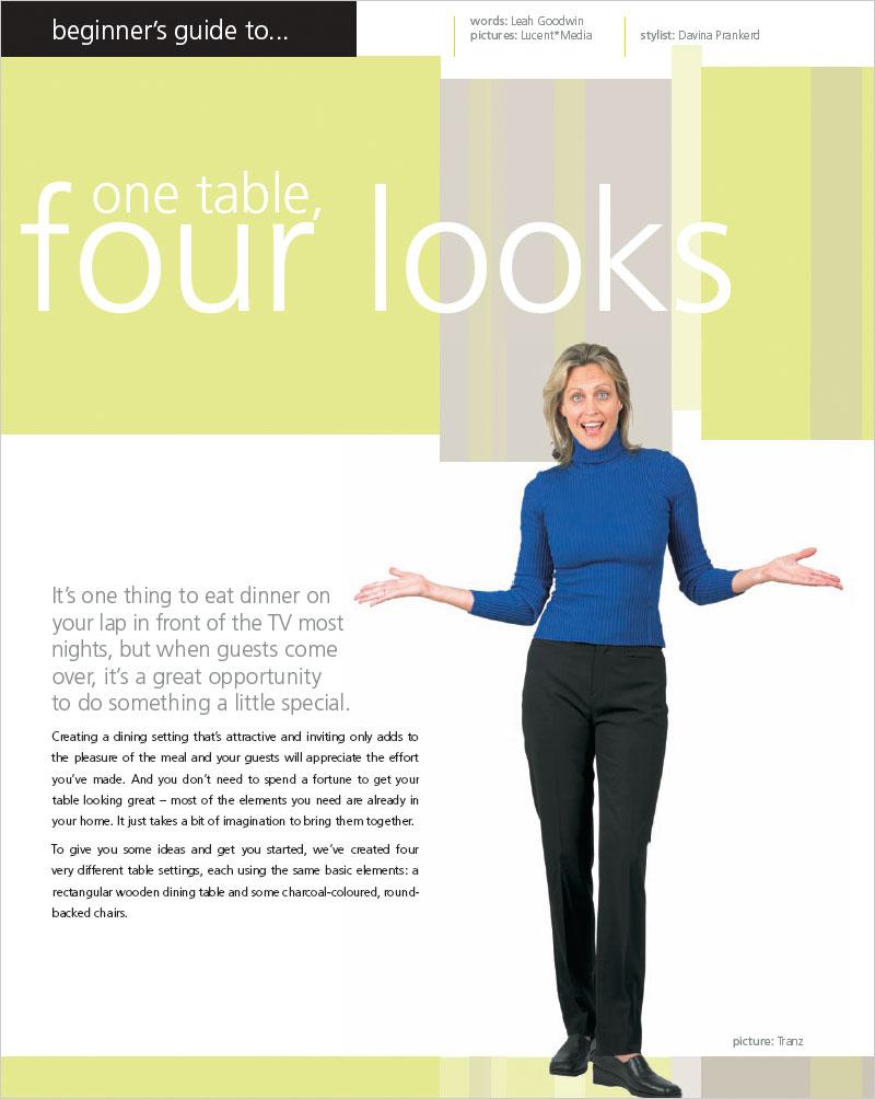 One Table Four Looks Habitat Magazine Published By Resene Paints