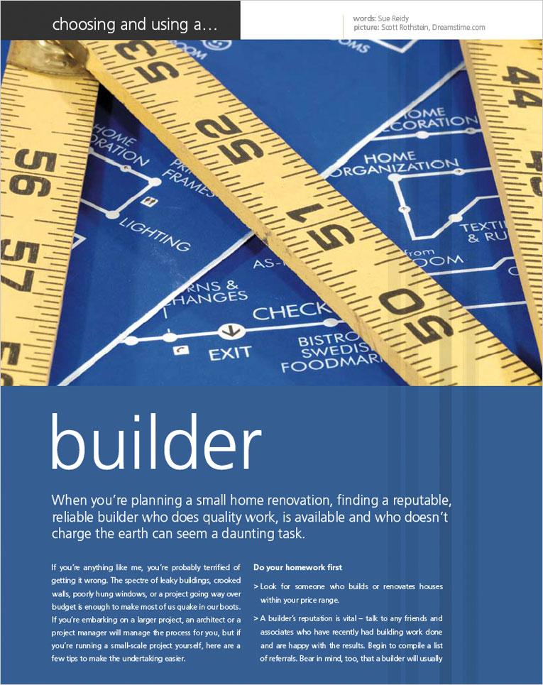Choosing a builder choosing your builder choosing a for How to choose a builder for your house