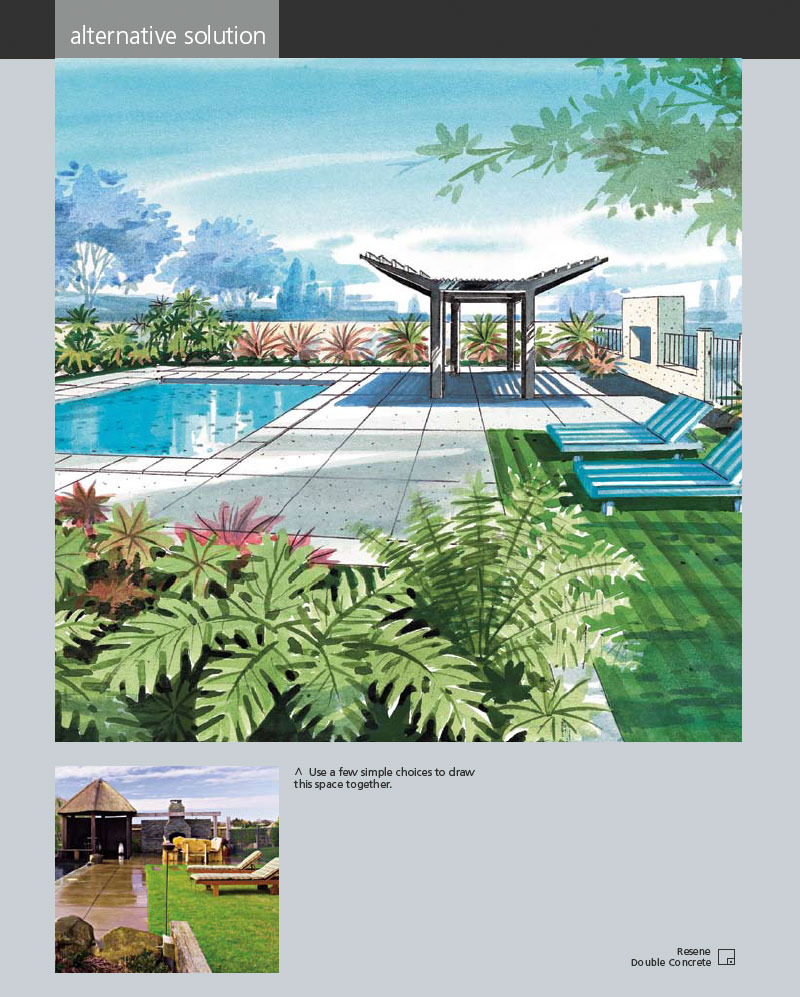 A touch of the tropics habitat magazine published by for Garden pool pdf