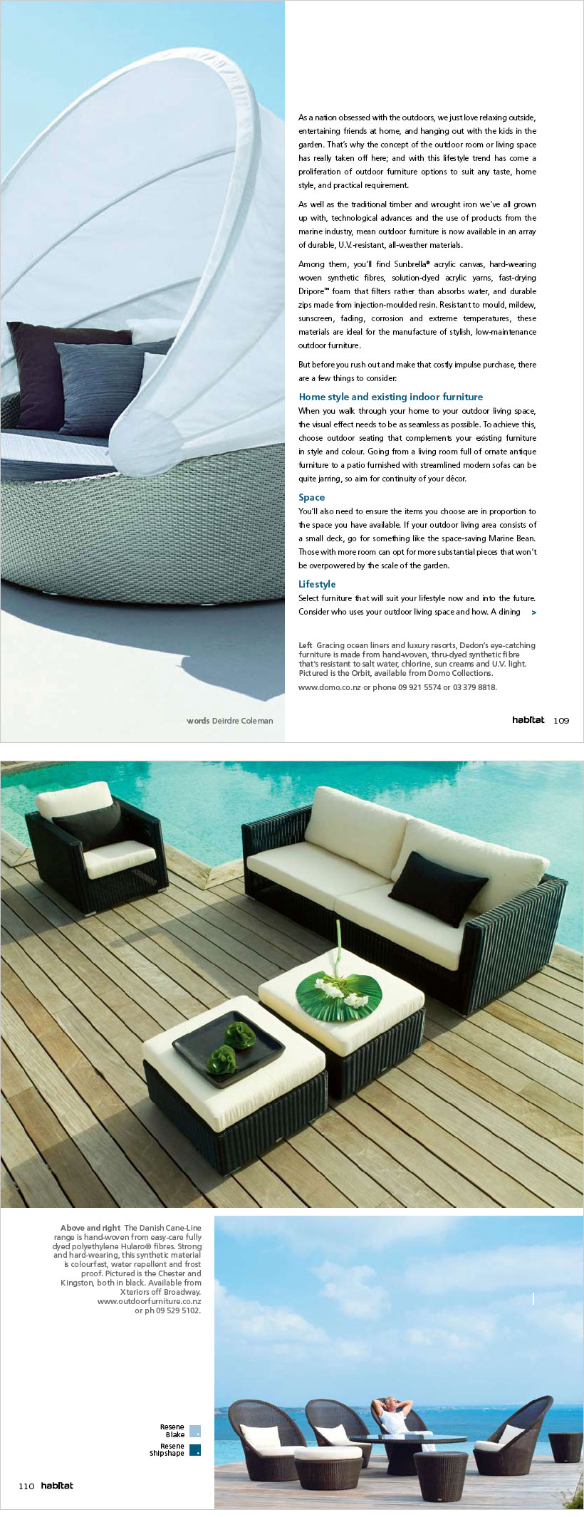 Stylish outdoor chairs