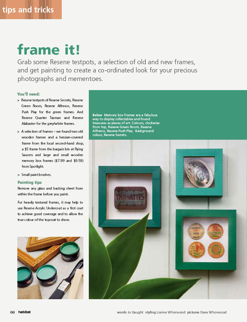 0eb7b774273d Paint old frames to create a co-ordinated look for your precious  photographs and mementoes