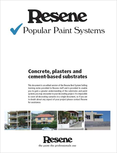 Painting concrete, plasters and cement based substrates