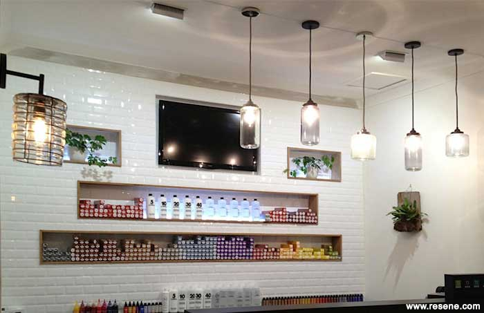 A neutral background to display colourful retail products