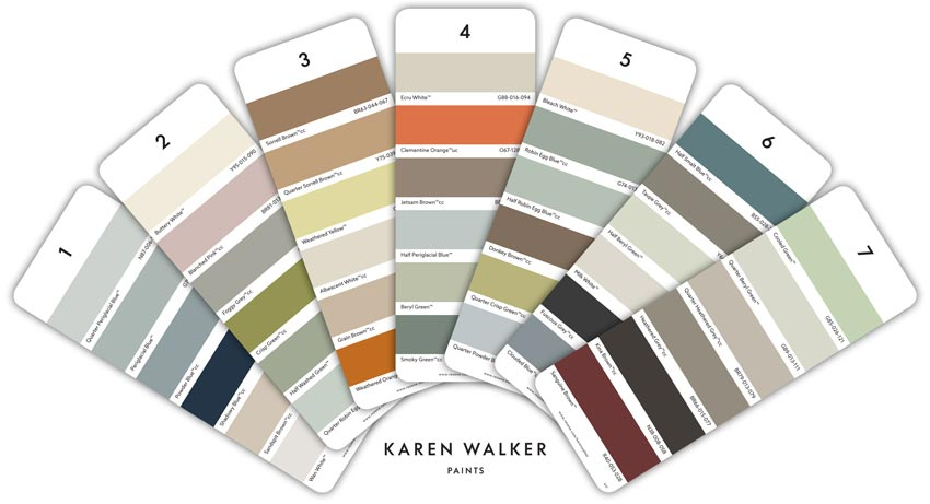 Karen Walker paint colours collection