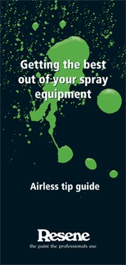 Airless Spray Painting Information - maximising your