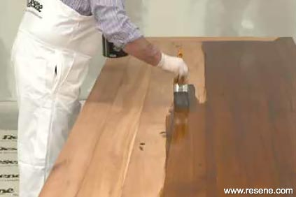 Applying Resene Colorwood - step 2