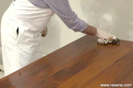 Applying Resene Colorwood - step 3