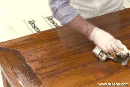 Applying Resene Colorwood - step 4
