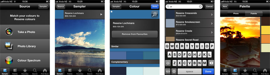 Resene ColourMatch colour matching app foriPhone and android