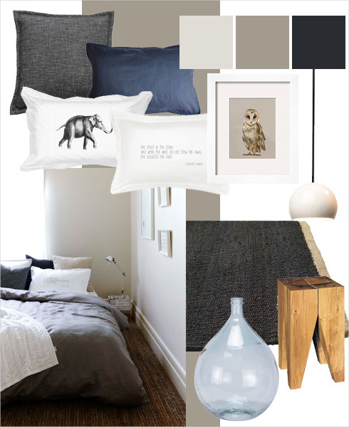 Bedroom colour scheme inspired by nature's earth tones