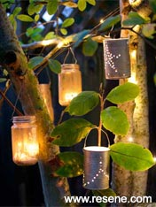 Light up a path with handmade lanterns