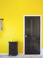 Banish boring white and use a strong yellow for glamour