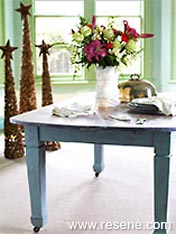 Wooden table makeover