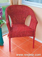 Create your own stained chair