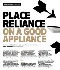 Reliable appliances are a must for rental properties