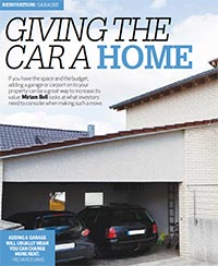 The humble garage is actually a desirable property feature for a rental property