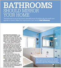 An attractive bathroom is a big draw-card to renters