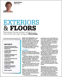 A guuide to replacing flooring, cladding or roofing on rental accommodation