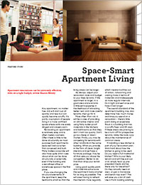 Renovating an apartment is relatively easy and is often merely cosmetic
