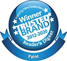 Winner Most Trusted Paint brand 2012-2020