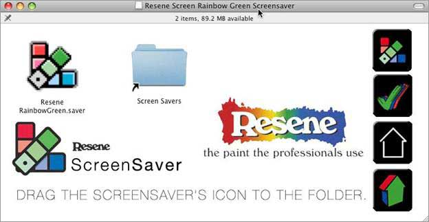 Mac  screen saver installation