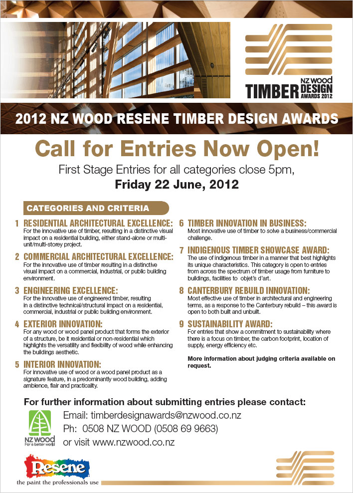 2012 NZ Wood Resene Timber Design Awards