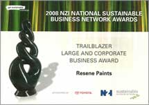 Sustainable Business Network award 2008