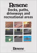 Resene Decks, paths, driveways and recreational areas colour chart