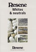 Resene Whites and neutrals colour chart