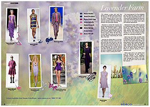 Lavender is a fashion favourite