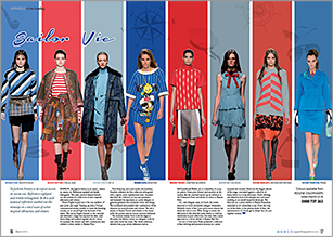 Sailor inspired silhouettes and colours