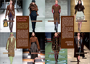 Smooth chocolate coloured designs on this season's runways