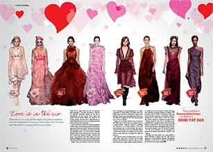 The fashion industry looks for inspiration in romance, with runways full of red and pink.