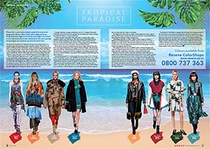 Clothing ranges inspired by a tropical beach