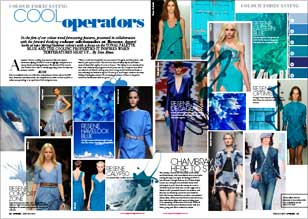 Colour forecasting with Resene blues for spring and summer fashions
