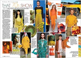 Popular colours of 70s suburbia have infiltrated the northern hemispheres Spring 2011 runways