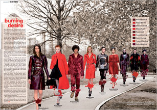 Runways have been set ablaze across the globe with red burning its way onto everyone's radar.