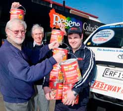 Fastway Couriers have kindly offered their services to ferry the money around the country.