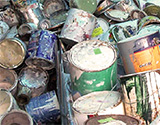 Reduce, reuse and recycle paint and paint containers