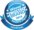 Resene is the winner of the Most Trusted Brand for paint 2014