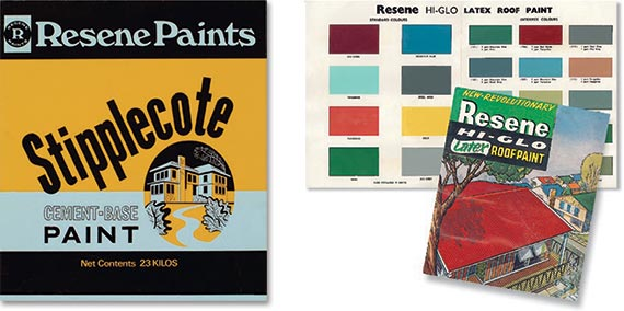 Early advertisment and paint chart