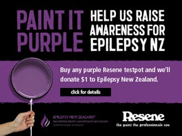 Paint it purple for Epilepsy NZ!
