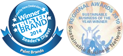 Resene has won Sustainable Business Network and Trusted Brand Awards