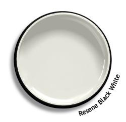 Resene black white colour swatch resene paints for Black paint swatch