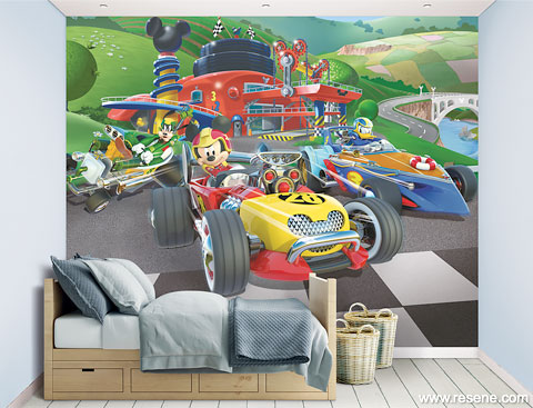 Mickey Mouse Roadster Racers mural