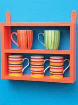 Make a mini mug shelf