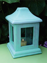 Paint an Verdigris effect for a candle holder